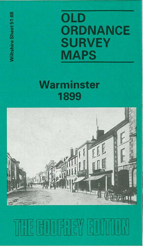 OLD ORDNANCE SURVEY MAP WARMINSTER 1899 TOWN HALL POUND STREET WOODCOCK