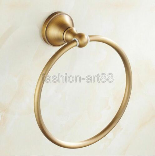Antique Brass Wall Mounted Towel Ring Bathroom Hardware Bath Accessories fba130