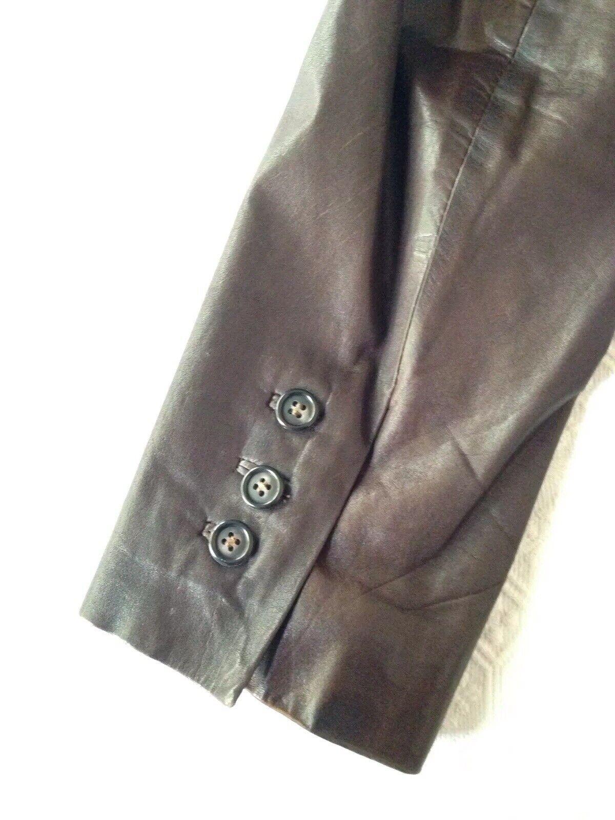 1970S Vintage Women's Dark Brown Leather Blazer J… - image 5