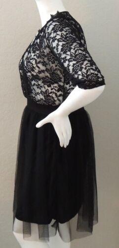 New! Zenobia Sheer Lace Tulle Party Dress Plus 1XL /& 2XL Black
