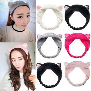 Katze-Ohren-Hairband-Kopfband-Party-Kopfschmuck-Haar-Zubehoer-Make-up-Tools-Pro