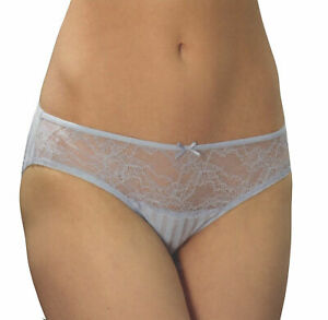 2er-Pack-Damen-Slip-Panties-Unterwaesche-Spitze-mit-Schleife-Minislip-see-through