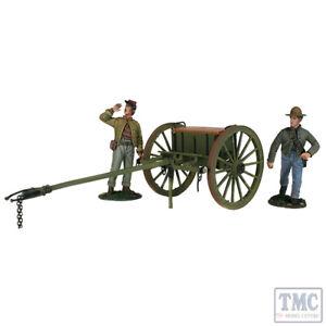 B31293 W.britain Ensemble d'artillerie légère confédérée avec équipage à deux hommes