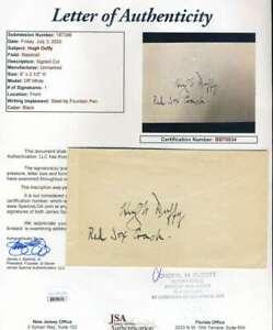 Hugh-Duffy-JSA-Loa-Autograph-Hand-Signed-3x5-Index-Card