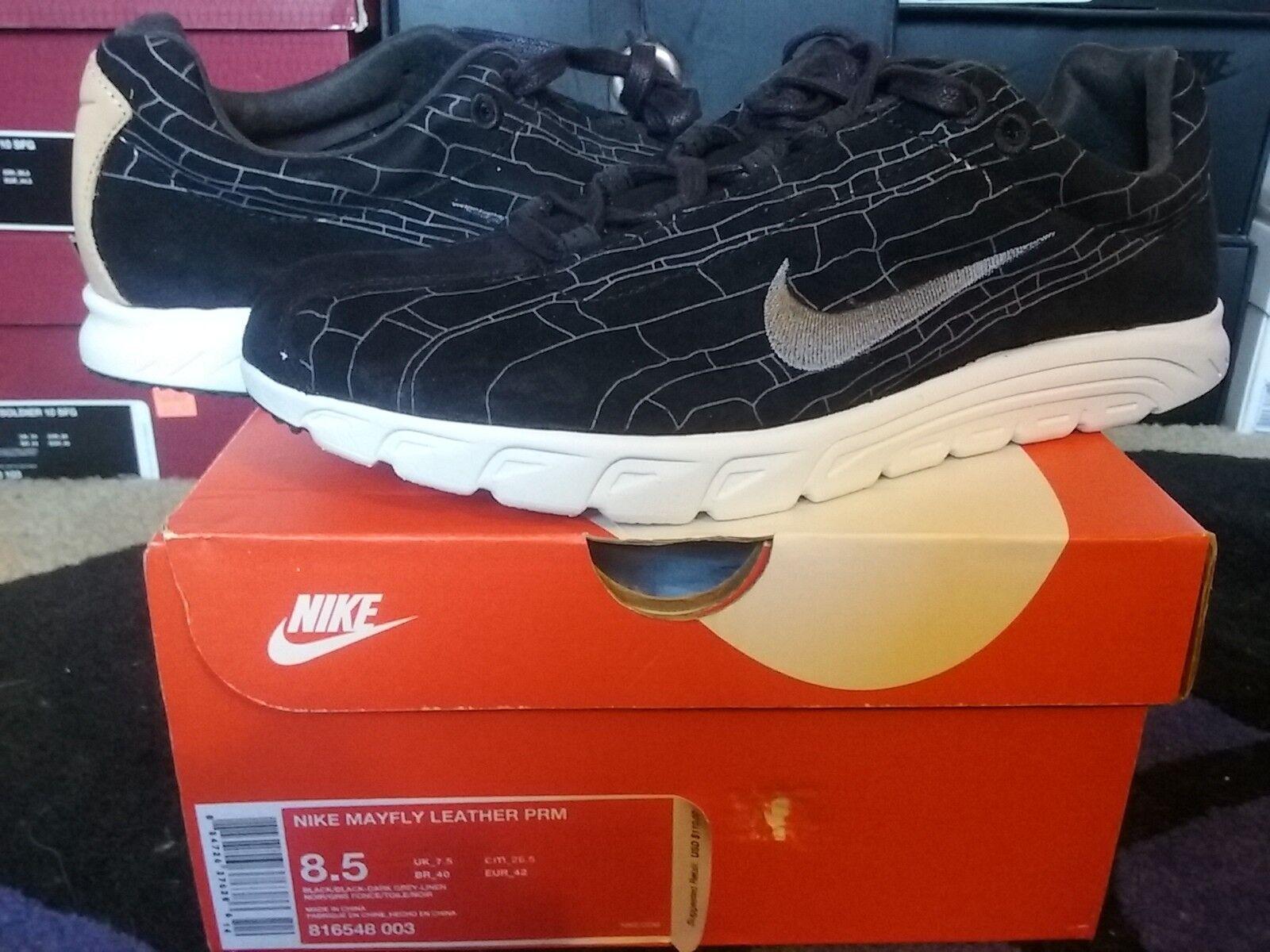 Nike air libellula cuoio l premio sonodiventate camoscio nero grigio scuro da max 816548 003
