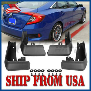 US-Mud-Flaps-Splash-Guards-Fender-Kit-Fit-Honda-Civic-Sedan-2016-2017-2018-FM