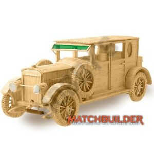 Hobby-039-s-Matchbuilder-6111-Hispano-Suiza-Vintage-Car-Matchstick-Model-Kit-T48Post