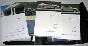 2008 lexus es350 owners manual 08 set es 350 guide case ebay rh ebay com lexus es 350 owner manual download lexus es 350 owners manual 2017
