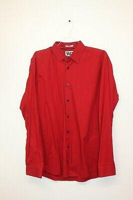Express Tech 1MX Fitted Men's XL Pink Button Down Long Sleeve Dress Shirt NWT