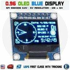096 Spi Serial 128x64 Oled Lcd Led Display Module 12864 Blue Ssd1306 Arduino
