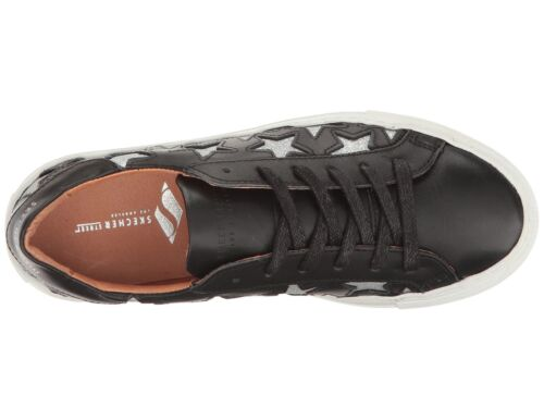 Euro Star Fashion Womens Sneakers Leather Black 8 9 New SKECHERS Street Nora