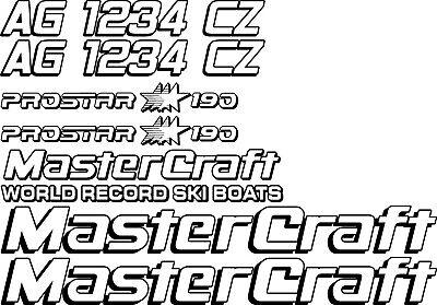 2 Color MasterCraft Prostar 205 EFI Full set #1