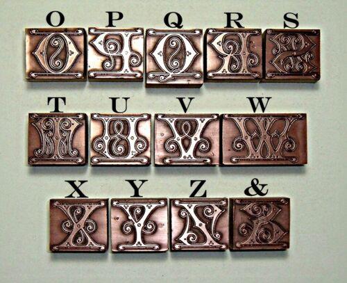 """/""""Artes y Oficios/"""" Jengibre letras del alfabeto."""
