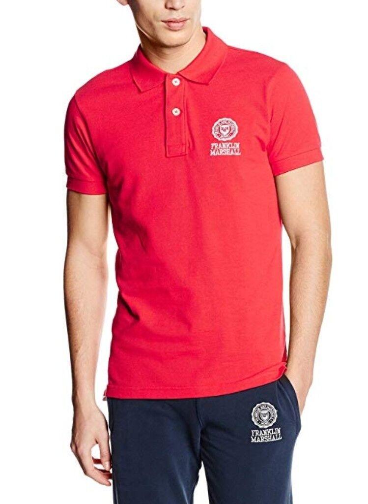 Franklin Marshall Mens rot Regular Fit Polo Pique T-Shirt, M, L  | Lebhaft  | Der neueste Stil  | Maßstab ist der Grundstein, Qualität ist Säulenbalken, Preis ist Leiter