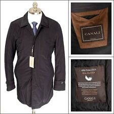 CANALI Navy Rain Wind Tech Resistant Feather Down 5Btn Coat Jacket 48 38 S NWT