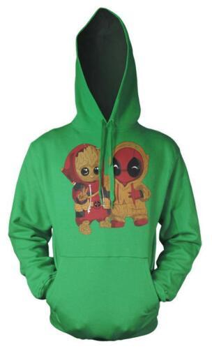 Guardians Galaxy Groot Deadpool Mashup Adult Hoodie
