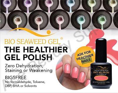 BIO SEAWEED GEL All In One Color Gel Polish  #101~~#190  NO CHEMICAL HEALTHY