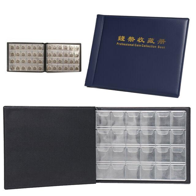 10 Sheet 30 Pockets Plastic Coin Holders Storage Collection Money Album Case YF