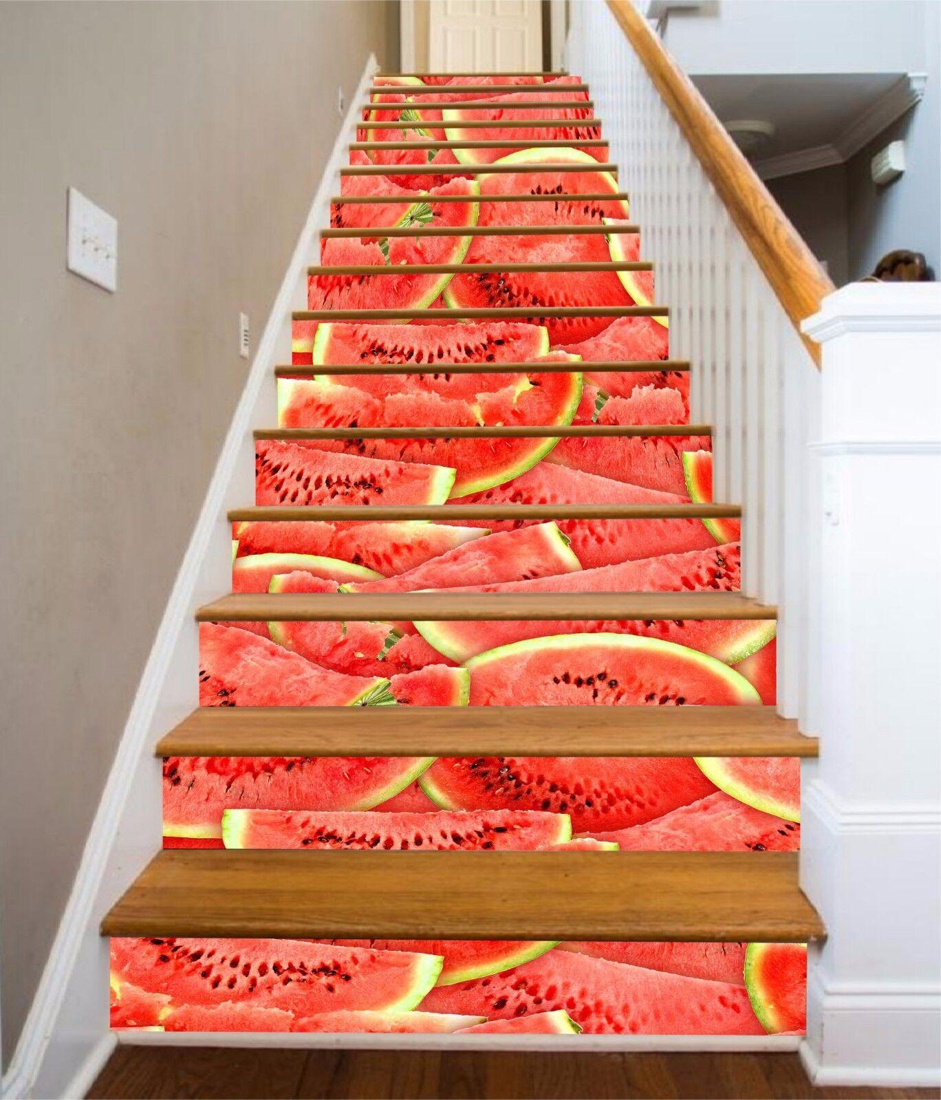 3D Wassermelone 873 Stair Risers Dekoration Fototapete Vinyl Aufkleber Tapete DE