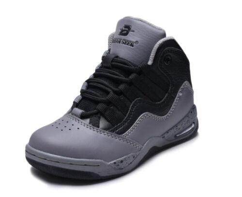 Garçons Filles Haut Top Baskets Chaussures De Tennis Basketball Youth Kids Athletic NEUF