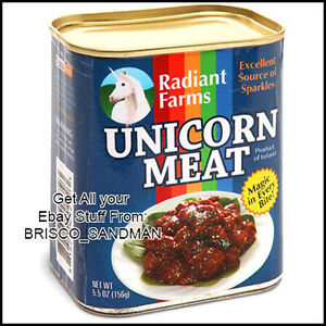 Fridge-Fun-Refrigerator-Magnet-UNICORN-MEAT-CAN-Photo-Magic-Specialty-Die-Cut