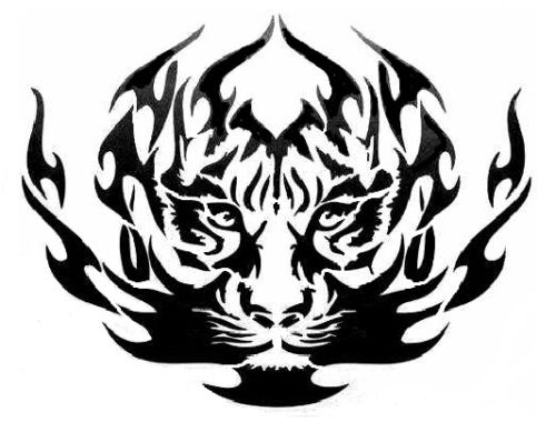high detail airbrush stencil tribal tiger head   FREE UK  POSTAGE