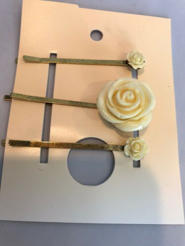 Urban Outfitters Bobby Pins Set Of 3 Ivory Rose Free People New