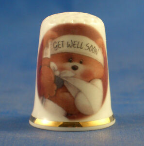 Birchcroft China Thimble -- Get Well Soon -- Free Dome Gift Box MndI4NoN-09155649-491332033