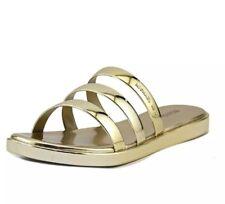 017d33cf988f1 item 3 Michael Kors 7 M Keiko Slide Metallic Gold Slides Sandals Summer  Casual Slippers -Michael Kors 7 M Keiko Slide Metallic Gold Slides Sandals  Summer ...