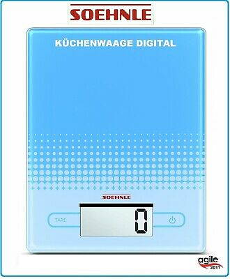 Soehnle Digitale Küchenwaage City Limited Edition Blue blau 66206 Glas 5KG