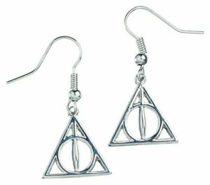 Deathly-Hallows-Earrings-Harry-Potter-Official-Silver-Plated-Jewellery-Drop-Hook