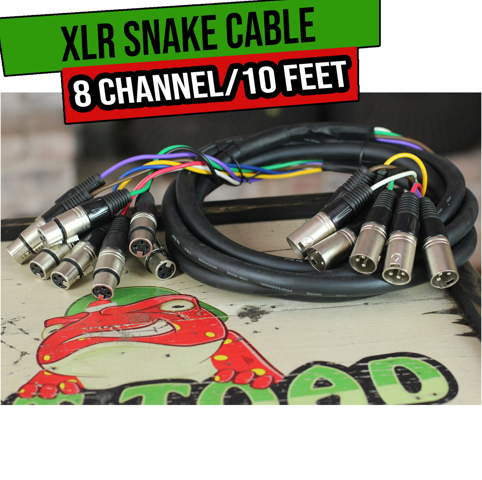 XLR Snake Cable Patch - FAT TOAD 8-Channel Pro Audio Mic Cord Mixer Sound Stage. Buy it now for 30.00