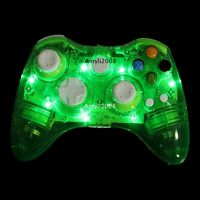 AfterGlow Green Wireless Gamepad Remote Consoles Controller For Xbox 360 & PC