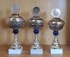 3er Serie Pokale (34/32/31) mit Emblem +Gravur E13s (Sieger Pokal Turnier)