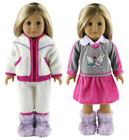 2 Set Doll Clothes For 18american Girl Handmade Casual Wear Clothes