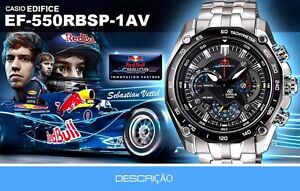 1392aed8a8a NEW CASIO EF550RBSP - 1AV STAINLESS STEEL RED BULL EDITION MEN S ...