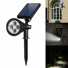 4 LED Waterproof Solar Power Spotlight Garden Lamp Outdoor Home Path Lawn Light