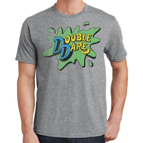 Nickelodeon Double Dare Logo Gray Heather Mens T-Shirt
