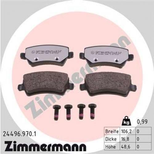 ZIMMERMANN Bremsbelagsatz Scheibenbremse