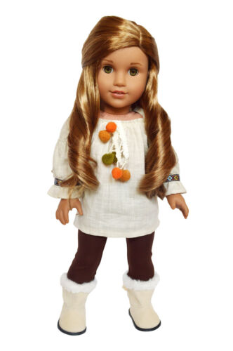 Ivory Tunic Outfit for American Girl Dolls 18 Inch Dolls