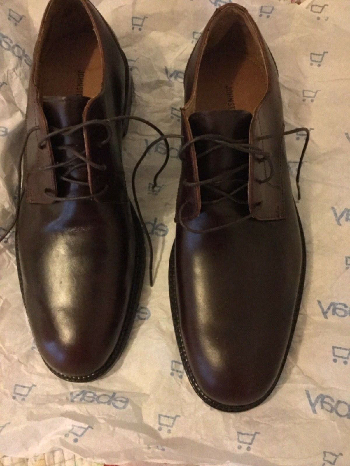 Nouveau Johnston & Murphy Homme Marron Laceup Derbies - 10.5