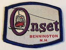 ONSET Lost Ski Area 1969-1989 Skiing Patch Bennington NEW HAMPSHIRE NH Travel