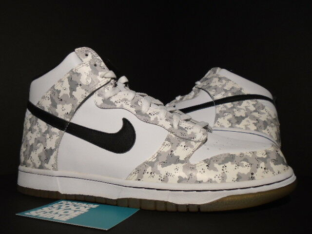 2006 SNOW Nike SB DUNK HIGH SNOW 2006 CAMO WHITE BLACK STEALTH GREY 309432-102 NEW 11.5 16f562