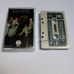 BLACK-SABBATH-HEAVEN-AND-HELL-CASSETTE-TAPE-1980-GREEN-PAPER-LABEL-VERTIGO-UK