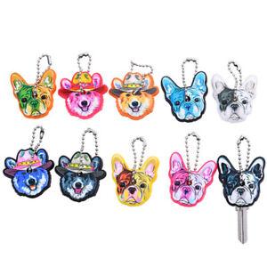 5pcs Mixed Puppy Pug Dog Key Cover Cap Keychain Key Ring Key Case Unisex GiftBDA