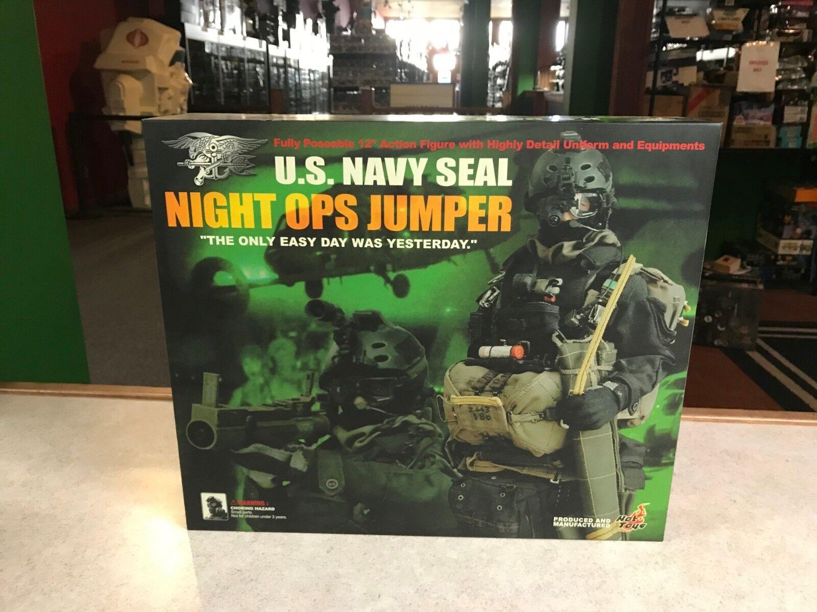 2003 Hot Toys 1/6 U.S Navy Seal NIGHT OPS JUMPER 12  Inch Figure NIB