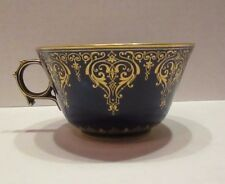 Antique Old Dore A Sevres French Cobalt & Gold Cabinet Tea Cup 19th C. Porcelain