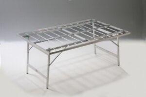 Tavoli In Alluminio Pieghevoli Per Mercati.Dettagli Su Banco Ambulanti Bancarelle Banchi In Alluminio Pieghevole Per Mercati 100x150x63
