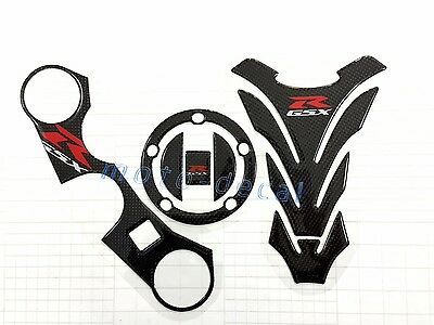 Real Carbon Fiber Suzuki GSXR 1000 750 600 Emblem Tank 3D Decal Glossy Sticker