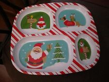 Christmas DACHSHUND DOG Holiday Divided Plate - Santa - BRAND NEW